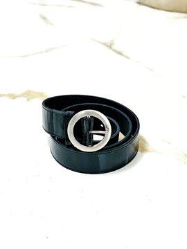 Imagen de Cinto de Cuero Negro Charol