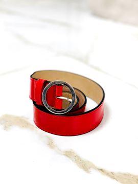 Imagen de Cinto de Cuero Rojo Charol