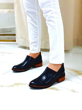 Imagen de Zapato Meucci Negro Croco