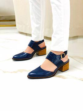 Imagen de Zapato Sophie Azul Croco