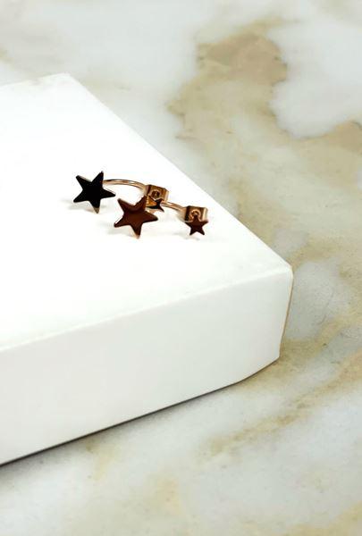 Imagen de Caravana Estrella doble rosa