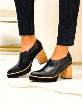 Imagen de Zapato Picasso Negro Lagarto