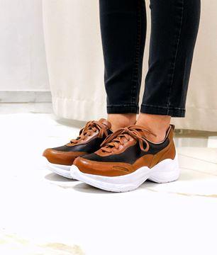 Imagen de Sneaker Sanzio Marron y Negro