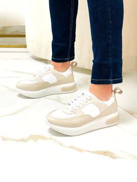 Imagen de Sneaker Simbel Natural y Blanco